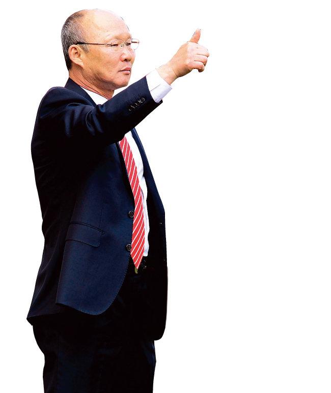 베트남 U-23 대표팀을 아시아 강팀으로 변모시킨 이끈 박항서 감독. [스포츠동아]