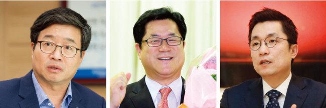 염태영 수원시장, 이기우 전 경기도 사회통합부지사, 김상민 전 의원.(왼쪽부터)