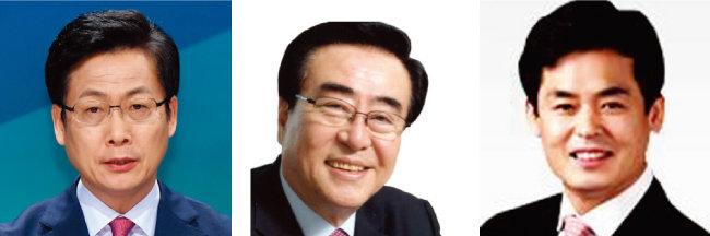 최성 고양시장, 김태원 자유한국당 중앙위원회 의장, 길종성 전 고양시의원.(왼쪽부터)