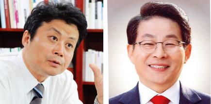 김만수 부천시장, 차명진 전 의원.(왼쪽부터)