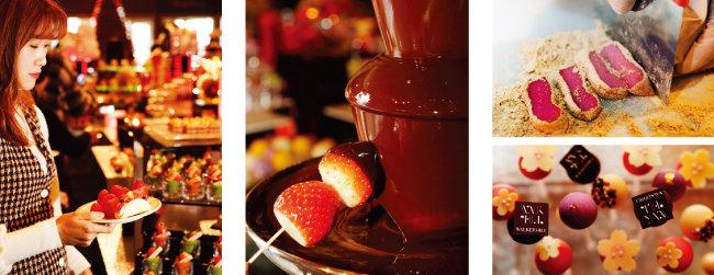 초코 딸기 퐁듀, 딸기 인절미 등 맛은 물론, 모양도 예쁜 디저트들. [박해윤 기자]
