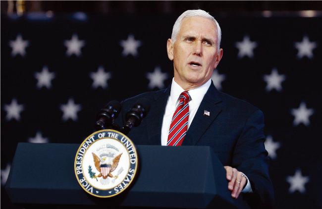 '펜스룰'의 주인공인 마이크 펜스 미국 부통령. [동아DB]