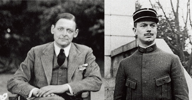 T. S. 엘리엇(왼쪽)과 장 베르드날. [출처 · tseliot.com]