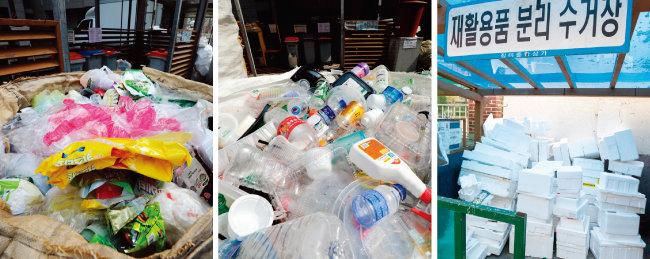그동안 재활용 수거·선별업체들은 무상으로 폐비닐을 처리해줬지만 최근 중국이 재활용 쓰레기 수입을 중단하면서 그 여파로 플라스틱과 스티로폼 등의 수거를 거부하기에 이르렀다. [뉴스1]