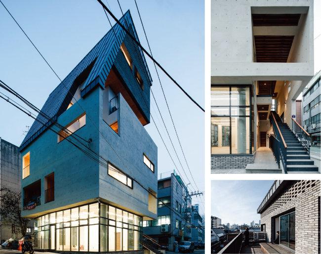 입지가 좋지 않아도 설계와 디자인을 통해 상가주택을 개성 있게 지으면 미래가치를 높일 수 있다. 사진은 서울 중구 신당동 한 상가주택. 4~5층은 건물주 가족의 주거공간이다. 5층 가족실과 테라스에 현대적으로 해석한 대청을 연결해 도심 속 옥상 정원을 즐길 수 있게 설계했다. [리슈건축사사무소]