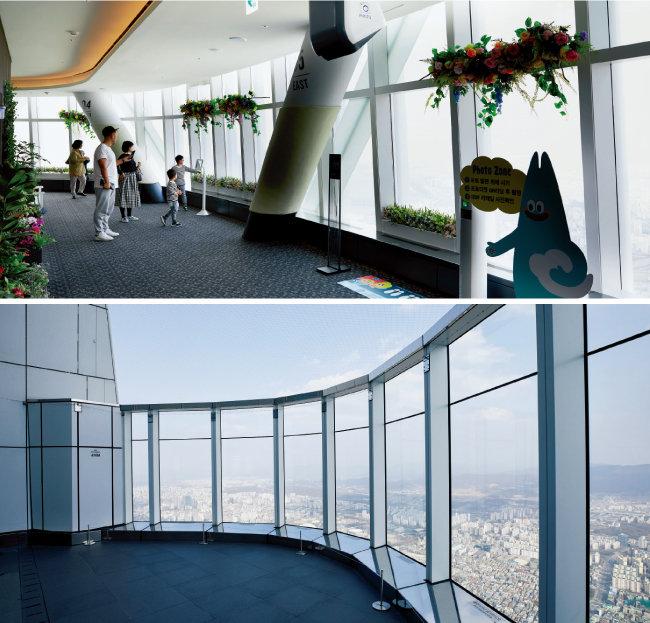 총 7개 층으로 이뤄진 서울스카이. 층마다 다른 테마로 꾸며져 있다. [홍중식 기자]