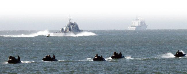 도널드 트럼프 미국 대통령은 남북대화 국면에서도 예정된 군사 활동을 실시했다. [동아DB]