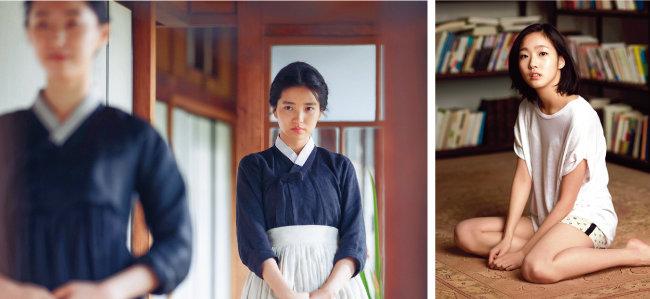 영화 '아가씨'의 김태리.(왼쪽) 영화 '은교'의 김고은.[스포츠동아, 렛츠필름]