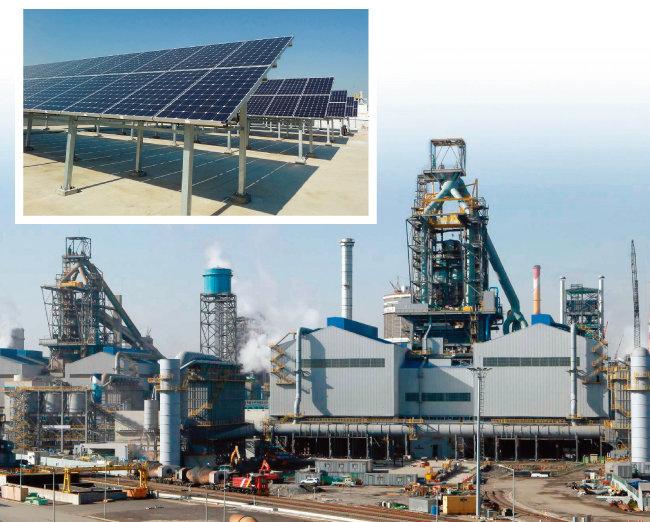 정부의 탈원전 정책이 오히려 신재생에너지의 대표주자인 태양광 사업에 악영향을 미치는 것 아니냐는 의견이 나오고 있다(위). 산업용 전기요금이 오르면 국내 제조업체 중 전기력 사용량이 가장 많은 현대제철도 타격을 받을 수 밖에 없다. [동아DB]