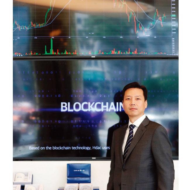 에이치닥으로 한국에서 최초로 리버스 ICO에 성공한 정대선 현대BS&C 사장. [뉴시스]
