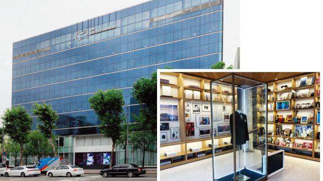SM엔터테인먼트는 서울 청담동 명품거리에 위치한 건물을 20년째 사옥으로 쓰고 있으며 청담동과 삼성동 2개 공간도 성격에 맞게 활용하고 있다. 사진은 삼성동 커뮤니케이션 센터. [박해윤 기자]