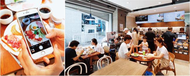 이른 시간부터 '파바 브런치'를 이용하고자 다양한 연령층의 소비자가 파리바게뜨 매장을 찾았다. 사진은 사당역점 모습. [박해윤 기자]