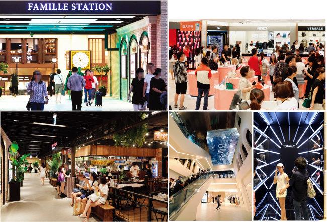 신세계백화점 강남점은 식음료 매장인 파미에스테이션, 영패션 매장인 파미에스트리트, 면세점이 구축되면서 종합쇼핑타운으로 올라섰다. [박해윤 기자, 뉴시스]