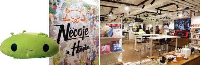 넥슨 '네코제 스토어'는 서울 엘큐브 홍대점 게임테마관 지하에 다른 매장과 함께 있다.