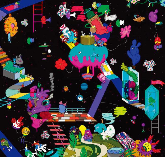 김가영 '03 flash delirium', 디지털일러스트레이션, 100×100cm, 2015
