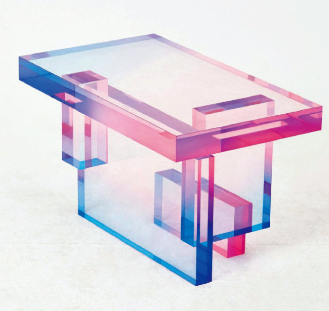 윤새롬 'Crystal series table 04', 60×35×38cm
