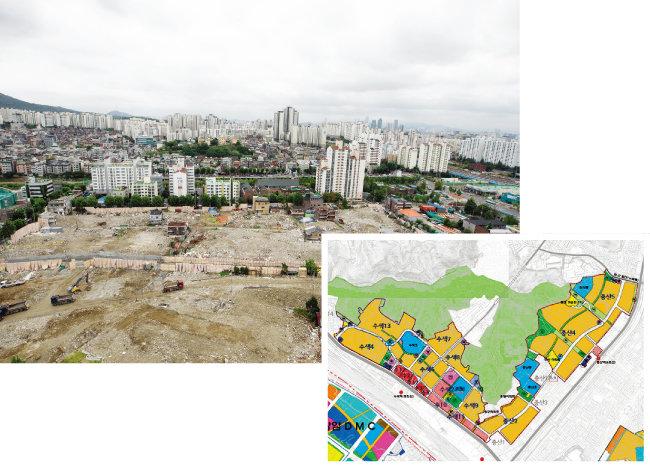 서울 수색·증산 재정비 촉진지구 내 재개발 구역은 이주와 철거 작업이 속속 이뤄지고 있다. 사진은 증산2구역 재개발 사업지. [지호영]