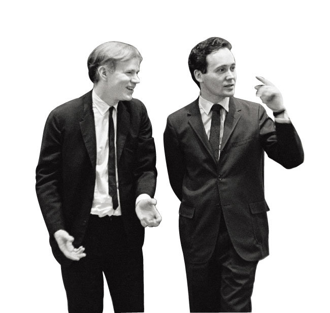 앤디 워홀(왼쪽)과 로버트 인디애나. [KIWI Arts Group]