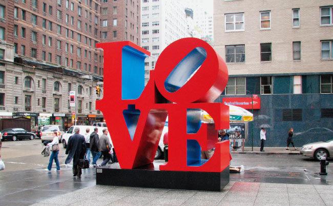 미국 뉴욕 맨해튼 6번가에 세워진 'LOVE'. [위키피디아]