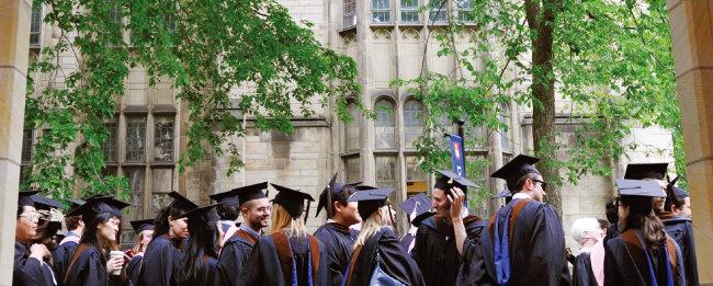 미국 뉴헤이븐에 위치한 예일대의 졸업식 풍경. [AP=뉴시스]