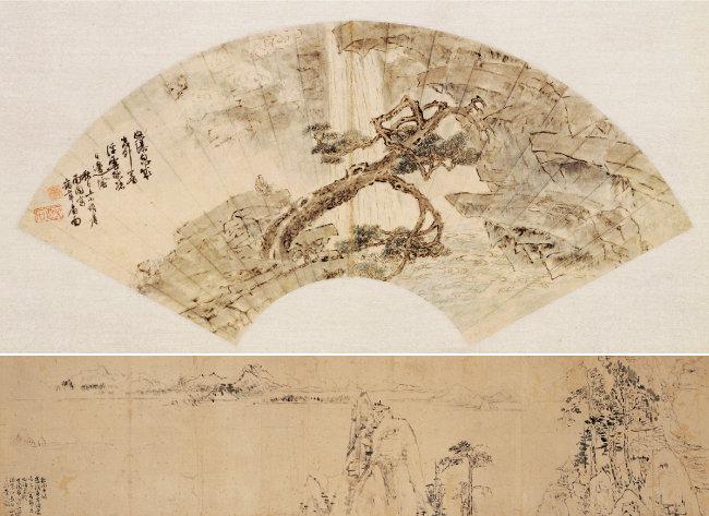 이인상의 '송변청폭도'(위)와 '장백산도'. [사진 제공 · 돌베개]