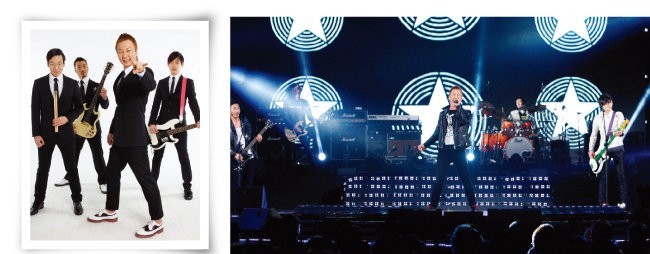 노브레인(왼쪽)과 그들의 2011년 콘서트 장면. [동아DB]