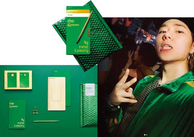 현대카드사는 9월 8일 연회비 15만 원을 내면 발급 받을 수 있는 프리미엄 신용카드 '그린카드'를 출시했다. 발급자 수가 한 달 만에 1만 명을 돌파했다. 맨 오른쪽은 그린카드 광고모델 지코. [현대카드 홈페이지, 지코 인스타그램 캡처]