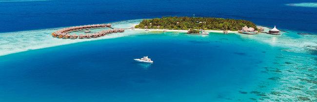 몰디브의 한 섬에 있는 리조트 모습. [BAROS MALDIVES]