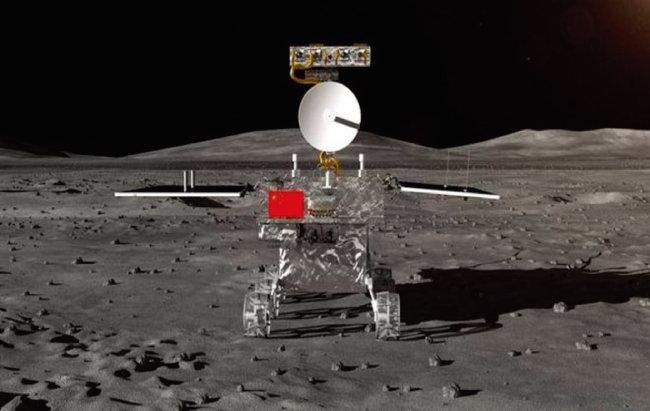 중국 국가항천국이 공개한, 달 뒷면에서 활동하게 될 창어 4호의 무인 로봇 탐사차 로버. [CNSA]
