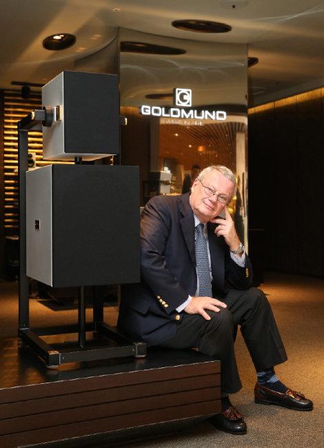 2013년 한국을 방문한 스위스 오디오 브랜드 골드문트의 미셸 르베르숑 회장. [동아DB]