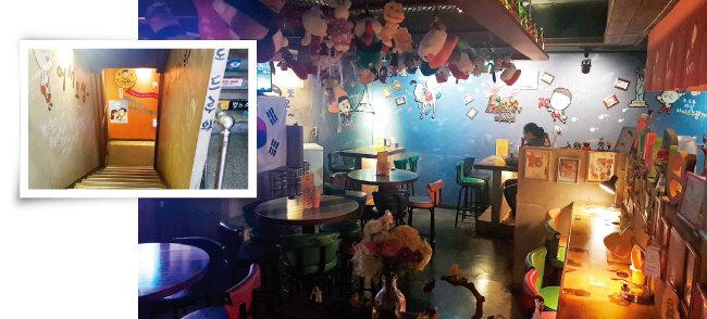 폭행 사건이 벌어진 서울 이수역 근처 술집(오른쪽), 여성들은 남성들과 술집 앞 계단에서 승강이를 벌이다 다친 것으로 알려졌다. [동아DB]