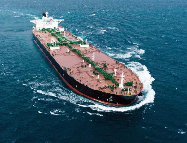 대우조선해양이 건제조한 초대형 원유 운반선(VLCC). [사진 제공 · 대우조선해양]