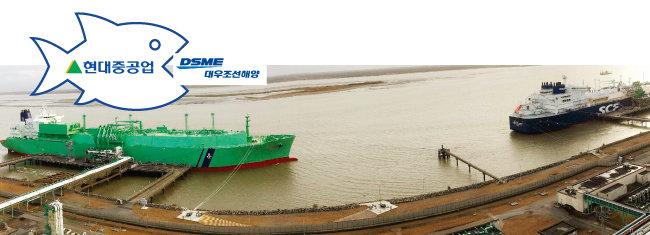 대우조선해양의 LNG 운반선. [사진 제공 · 대우조선해양]