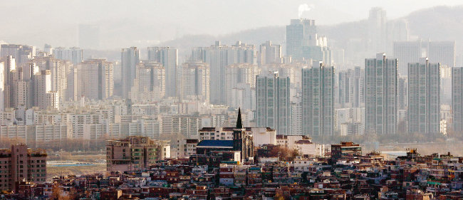 서울 강남 아파트 단지. [뉴시스]