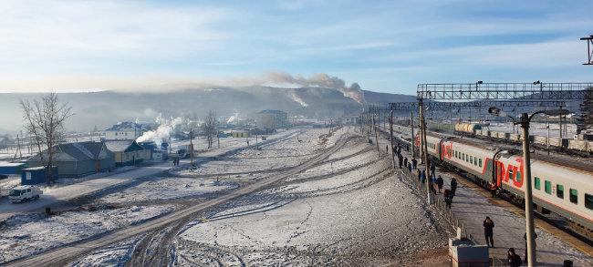 아마자르역 고가도로에서 바라본 풍경.