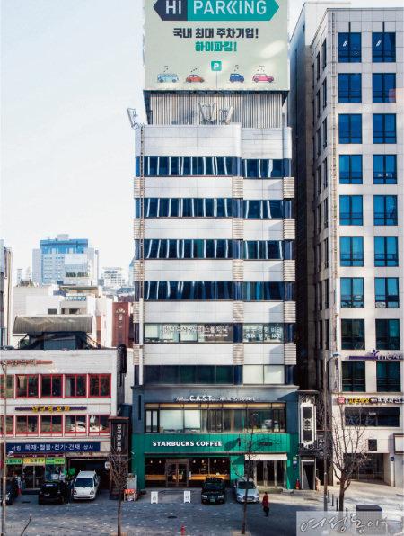 대성이 소유한 강남구 논현동 소재 빌딩. 월 임대료가 1억 원에 육박하는 것으로 알려졌다.