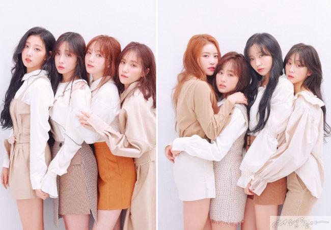 정예인, 유지애, 케이, JIN, 이미주, 베이비소울, 류수정, 서지수 (왼쪽부터)