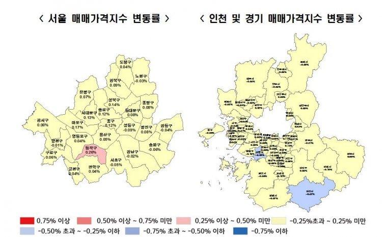"""강남4구 집값 동반 하락…""""지난해 8월 이후 처음"""""""