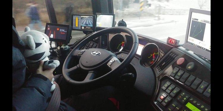 운전자 없이 안전할까? '수호랑'이 직접 타본 자율주행버스