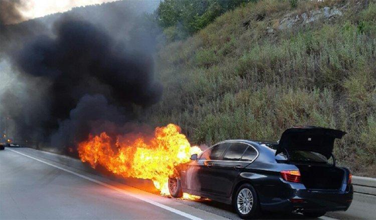 안전진단 받은 BMW 또 불나… 산불 번질 뻔
