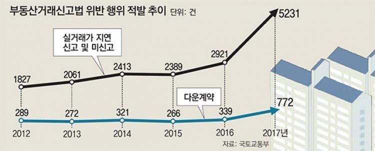 부동산 '꼼수 계약' 1년새 2배로 급증