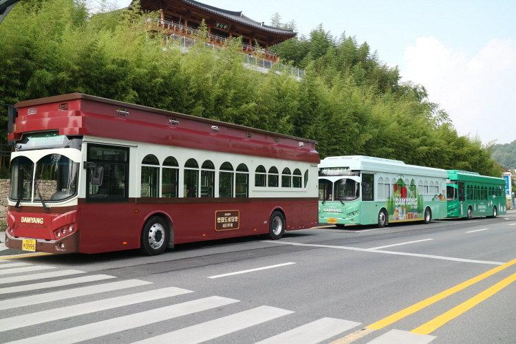 담양군, 주요 관광지 순환 친환경 시티투어버스 운영