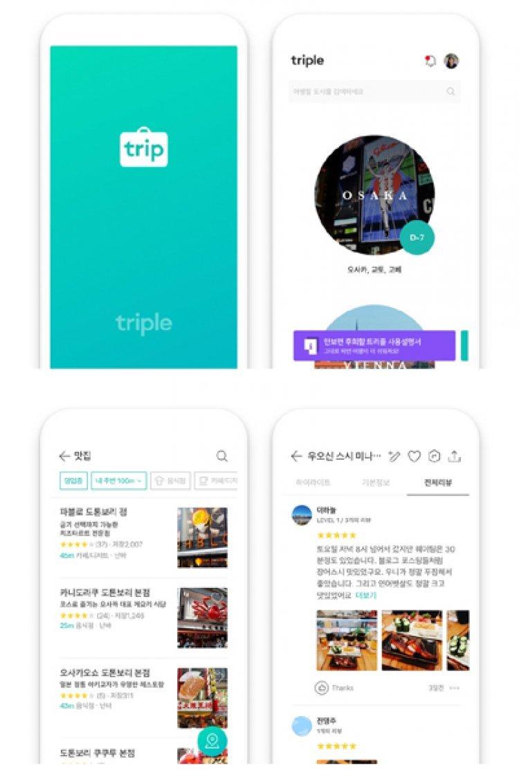 해외여행 가이드앱 '트리플', 출시 8개월 만에 100만 다운로드
