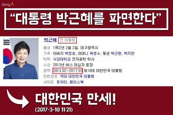 [카드뉴스] '헤어롤' '잔치국수' 점심…탄핵 인용에 누리꾼 환호