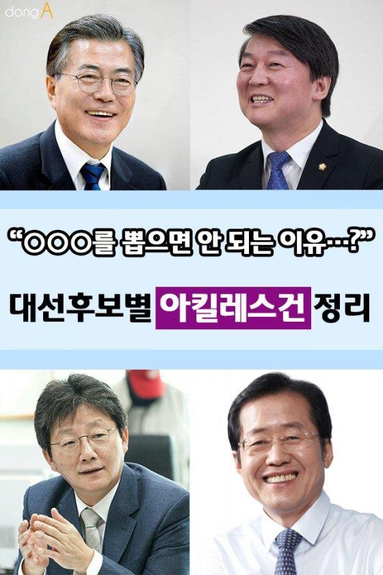 """[카드뉴스]""""뽑으면 안 되는 이유?"""" 대선후보별 아킬레스건 정리"""
