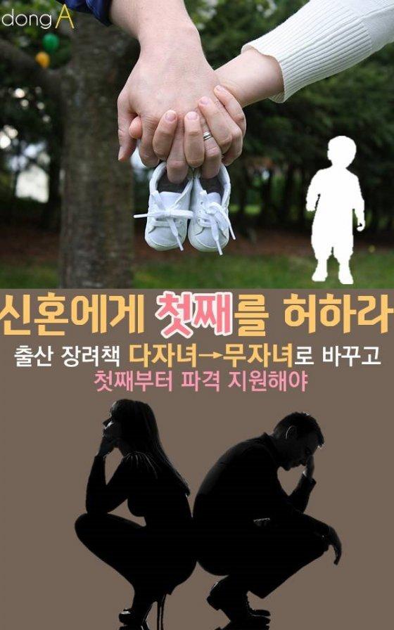 [카드뉴스]언 발에 오줌 누기…'신혼에게 첫째를 허하라'