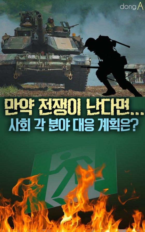 [카드뉴스]'만약 전쟁이 난다면…' 사회 각 분야 대응 계획은?