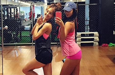 지나-정아름 '다이어트 자극 몸매'