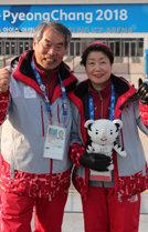올림픽에 푹 빠진자원봉사자들