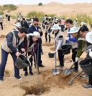 中사막서 12년째'희망의 나무심기'